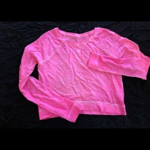 Pink long-sleeved top